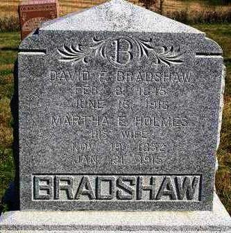 BRADSHAW, MARTHA ELLEN - Madison County, Iowa | MARTHA ELLEN BRADSHAW