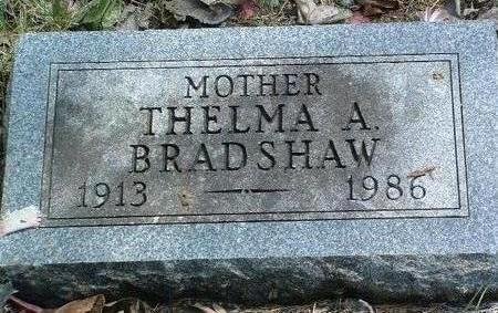 BRADSHAW, THELMA ARLENE - Madison County, Iowa | THELMA ARLENE BRADSHAW