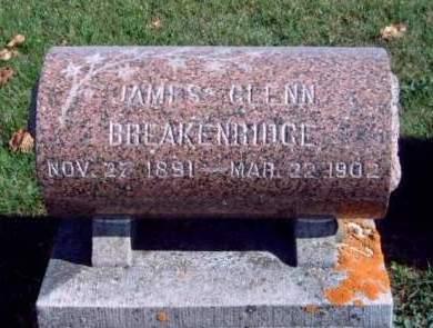 BREAKENRIDGE, JAMES GLENN - Madison County, Iowa   JAMES GLENN BREAKENRIDGE