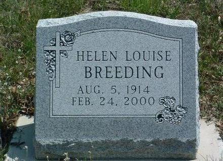 BREEDING, HELEN LOUISE - Madison County, Iowa | HELEN LOUISE BREEDING