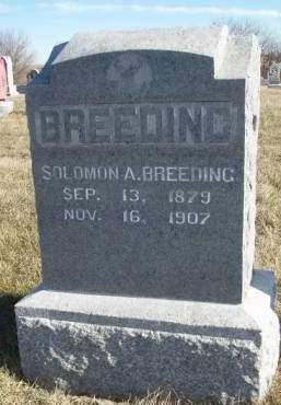 BREEDING, SOLOMON A. - Madison County, Iowa | SOLOMON A. BREEDING