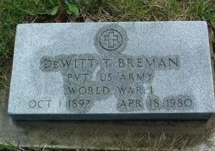 BREMAN, DEWITT TALMADGE - Madison County, Iowa | DEWITT TALMADGE BREMAN