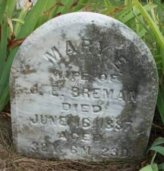BREMAN, MARY ELIZABETH - Madison County, Iowa | MARY ELIZABETH BREMAN