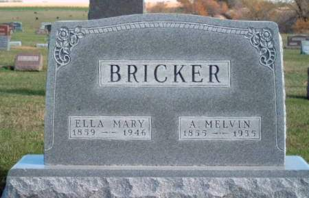 BRICKER, ELLA MARY - Madison County, Iowa | ELLA MARY BRICKER