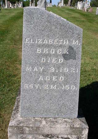 BROCK, ELIZABETH MARY - Madison County, Iowa   ELIZABETH MARY BROCK