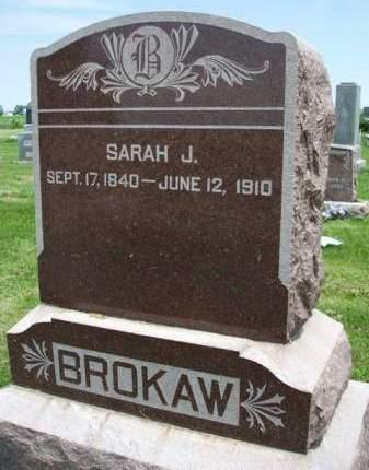 BROKAW, SARAH JANE - Madison County, Iowa | SARAH JANE BROKAW