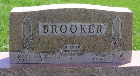 BROOKER, MARION WESLEY - Madison County, Iowa | MARION WESLEY BROOKER