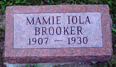 BROOKER, MAMIE IOLA - Madison County, Iowa | MAMIE IOLA BROOKER