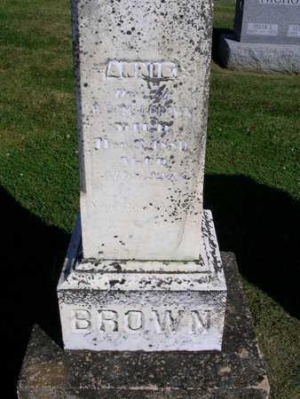 BROWN, ANNIE - Madison County, Iowa   ANNIE BROWN