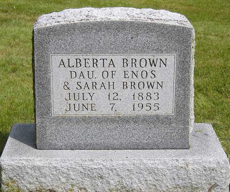 BROWN, ALBERTA - Madison County, Iowa | ALBERTA BROWN