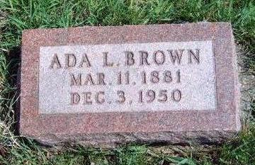 BROWN, ADA L. - Madison County, Iowa | ADA L. BROWN