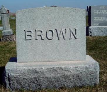 BROWN, FAMILY HEADSTONE - Madison County, Iowa | FAMILY HEADSTONE BROWN