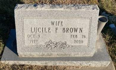 BROWN, LUCILE F. - Madison County, Iowa | LUCILE F. BROWN
