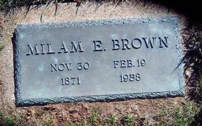 BROWN, MILAN EDWARD - Madison County, Iowa | MILAN EDWARD BROWN
