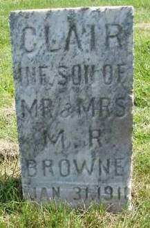 BROWNE, CLAIR - Madison County, Iowa | CLAIR BROWNE