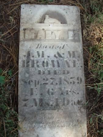 BROWNE, MARY E. - Madison County, Iowa   MARY E. BROWNE