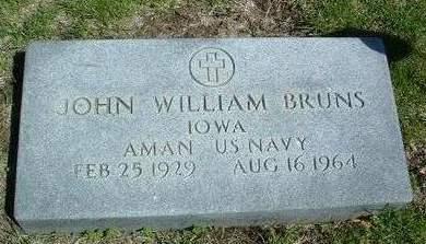BRUNS, JOHN WILLIAM - Madison County, Iowa   JOHN WILLIAM BRUNS