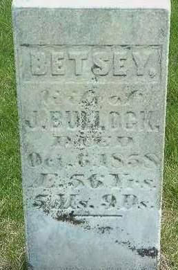 BULLOCK, ELIZABETH (BETSY) BULLOCK - Madison County, Iowa   ELIZABETH (BETSY) BULLOCK BULLOCK