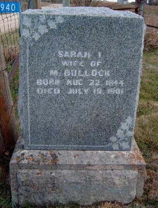 BULLOCK, SARAH ISABEL - Madison County, Iowa | SARAH ISABEL BULLOCK