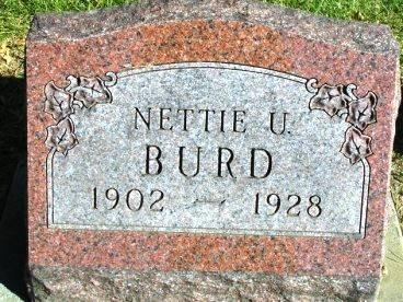 BURD, NETTIE URSALA - Madison County, Iowa | NETTIE URSALA BURD