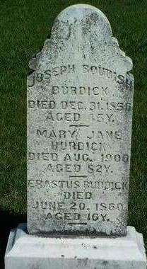 BURDICK, MARY JANE - Madison County, Iowa | MARY JANE BURDICK