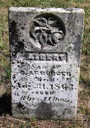BURGER, ALBERT - Madison County, Iowa | ALBERT BURGER