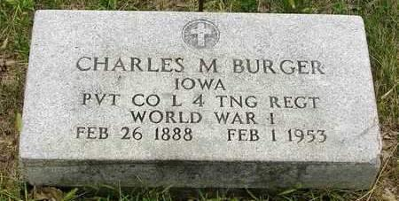 BURGER, CHARLES M. - Madison County, Iowa | CHARLES M. BURGER