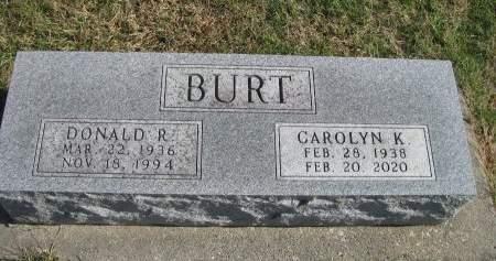 BURT, CAROLYN K. - Madison County, Iowa   CAROLYN K. BURT
