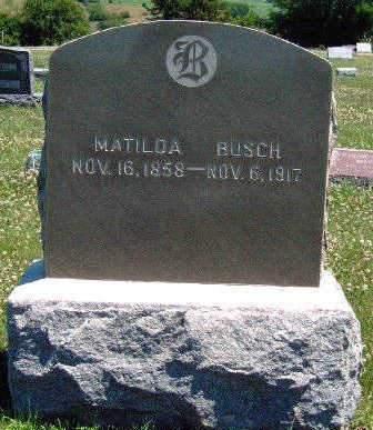 BUSCH, MATILDA - Madison County, Iowa | MATILDA BUSCH