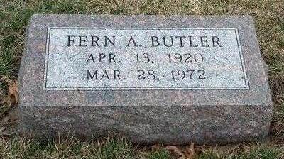 BUTLER, FERN ARLENE - Madison County, Iowa   FERN ARLENE BUTLER
