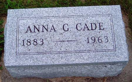 CADE, ANNA G. - Madison County, Iowa   ANNA G. CADE