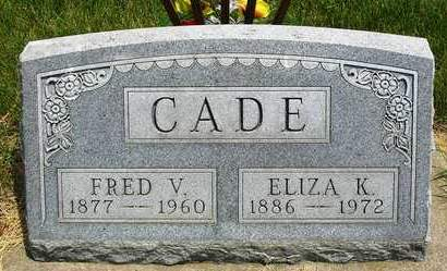 CADE, FRED V. - Madison County, Iowa | FRED V. CADE