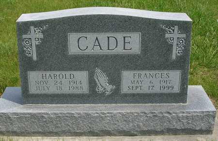 CADE, HAROLD FREDERICK - Madison County, Iowa | HAROLD FREDERICK CADE