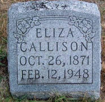CALLISON, ELIZA - Madison County, Iowa   ELIZA CALLISON