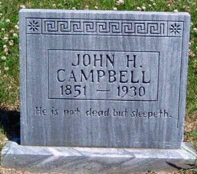CAMPBELL, JOHN HENRY - Madison County, Iowa | JOHN HENRY CAMPBELL