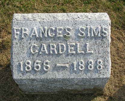 CARDELL, FRANCES (FANNIE) - Madison County, Iowa | FRANCES (FANNIE) CARDELL