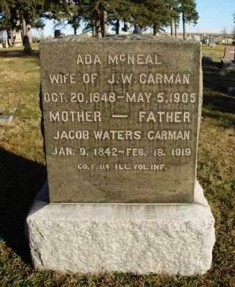 CARMAN, JACOB WATERS - Madison County, Iowa   JACOB WATERS CARMAN