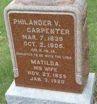 CARPENTER, MATILDA MINTA - Madison County, Iowa | MATILDA MINTA CARPENTER
