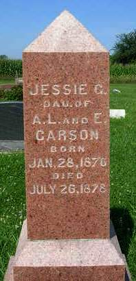 CARSON, JESSIE G. - Madison County, Iowa | JESSIE G. CARSON