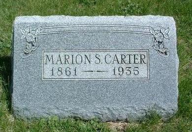 CARTER, MARION S. - Madison County, Iowa   MARION S. CARTER