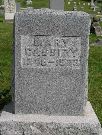 CASSIDY, MARY - Madison County, Iowa   MARY CASSIDY