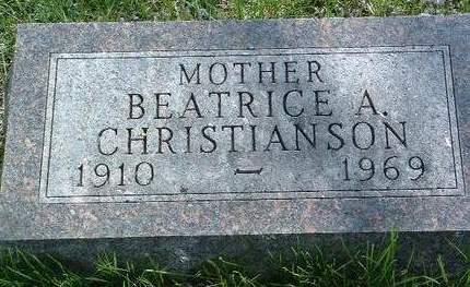 CHRISTIANSON, BEATRICE A. - Madison County, Iowa | BEATRICE A. CHRISTIANSON