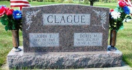 PALMER CLAGUE, DORIS MARIE - Madison County, Iowa   DORIS MARIE PALMER CLAGUE