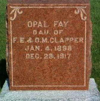CLAPPER, OPAL FAY - Madison County, Iowa | OPAL FAY CLAPPER