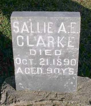 CLARKE, SALLIE A.E. - Madison County, Iowa | SALLIE A.E. CLARKE