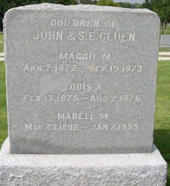 CLUEN, MAGGIE M. - Madison County, Iowa | MAGGIE M. CLUEN