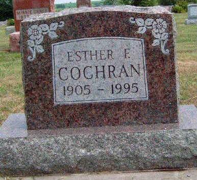 COCHRAN, ESTHER FAY - Madison County, Iowa | ESTHER FAY COCHRAN