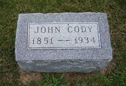 CODY, JOHN - Madison County, Iowa | JOHN CODY