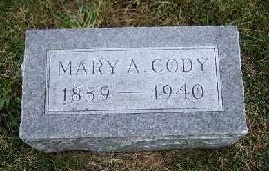 CODY, MARY ANN - Madison County, Iowa   MARY ANN CODY