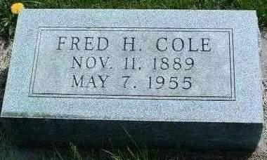 COLE, FRED HARRIS - Madison County, Iowa   FRED HARRIS COLE